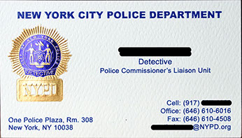 Nypd business card holder best business cards business cards template for law enforcement images card design accmission Image collections