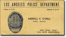 take a look at a few vintage lapd business cards - Police Business Cards